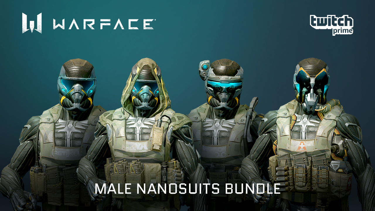 Male Nanosuits Bundle for Twitch Prime members | WARFACE